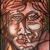 Abstrakt, Entschwebt, Rauchen, Portrait