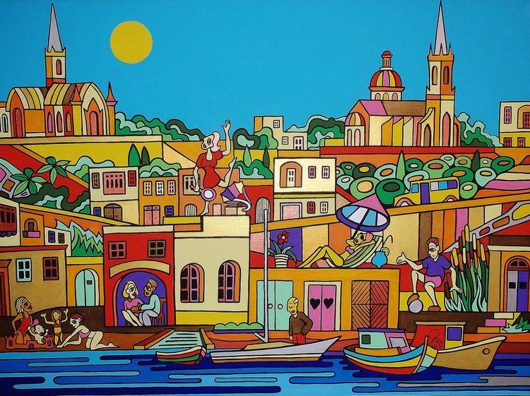 Gozo, Mgarr, Malta, Malerei