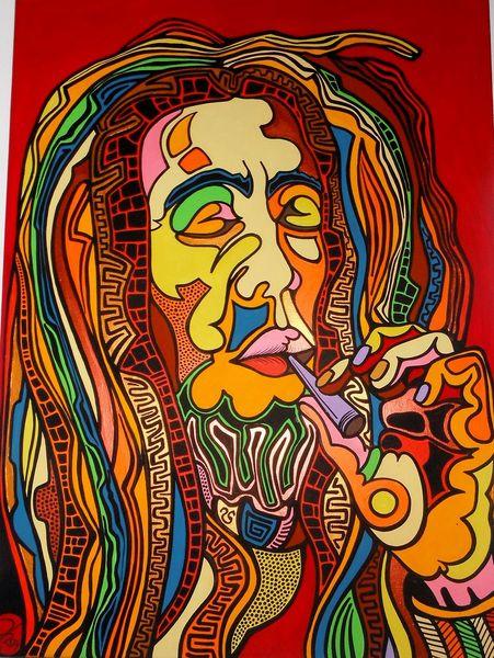 Dope, Bob marley, Smoking, Ganja, Malerei,