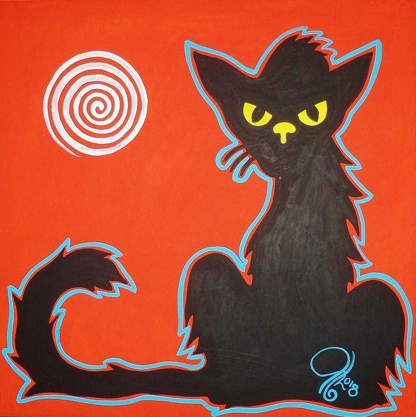 Sonne, Puxa, Katze, Malerei