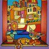 Malta, Katze, Valletta, Malerei