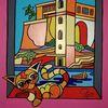 Katze, Kalkara, Malta, Malerei