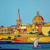 Valletta, Malta, Sliema, Malerei