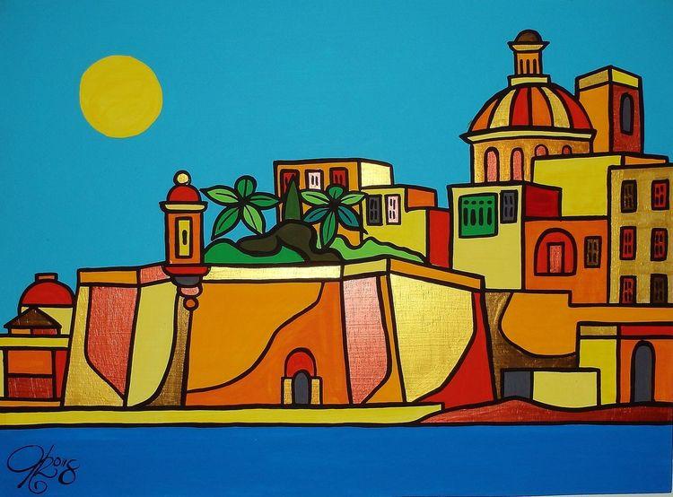 Malta, Senglea, Meer, Malerei,