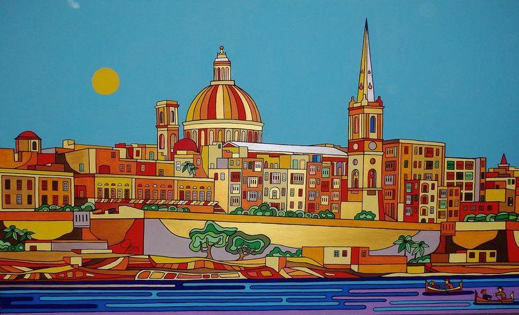 Valletta, Malta, Birgu, Malerei,