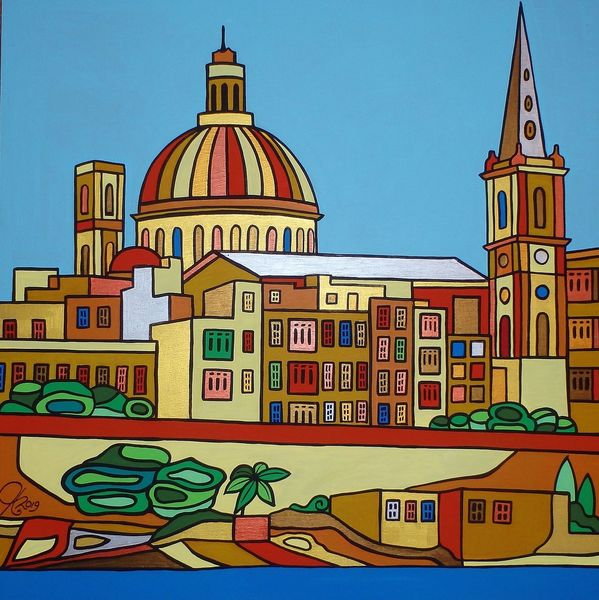 Sliema, Malta, Valletta, Malerei, Plus
