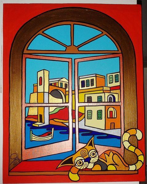 Malta, Katze, Kalkara, Malerei