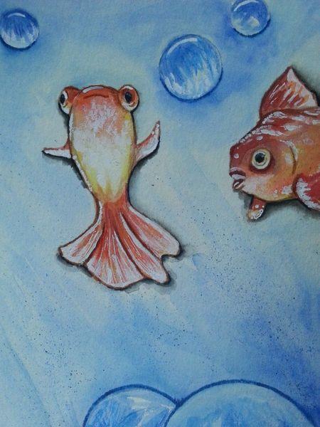 Fische, Aquarell