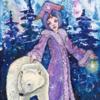 Tanne, Schnee, Eisbär, Schneekönigin