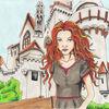 Burg, Comic, Mittelalter, Hexe
