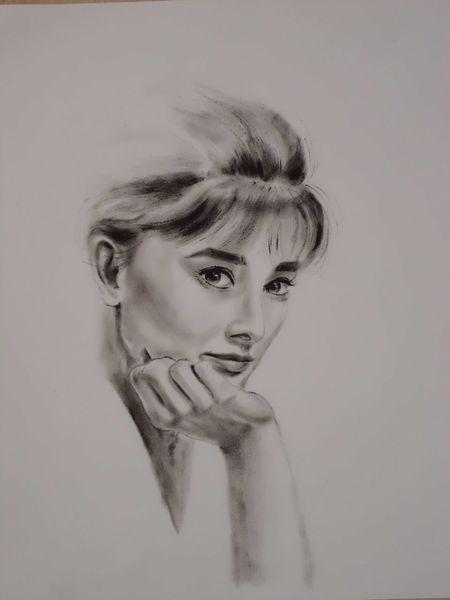 Portrait, Zeichnungen, Frau