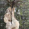 Felsen, Wald, Baum, Mischtechnik