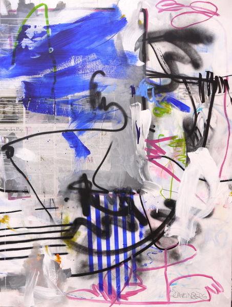 Sprayfarbe, Graffiti, Blau, Street art, Urban art, Weiß