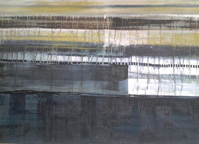 2013, Wasser, Übereinander, Verlaufende farben, Malerei,