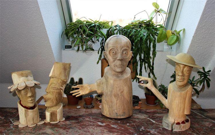 Robinie, Holzfiguren, Nussbaum, Rubin, Kiefer, Diesel