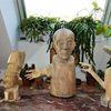 Robinie, Holzfiguren, Nussbaum, Rubin