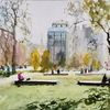 Park, Menschen, Baum, Stadt