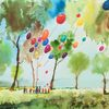 Kinder, Natur, Luftballon, Baum
