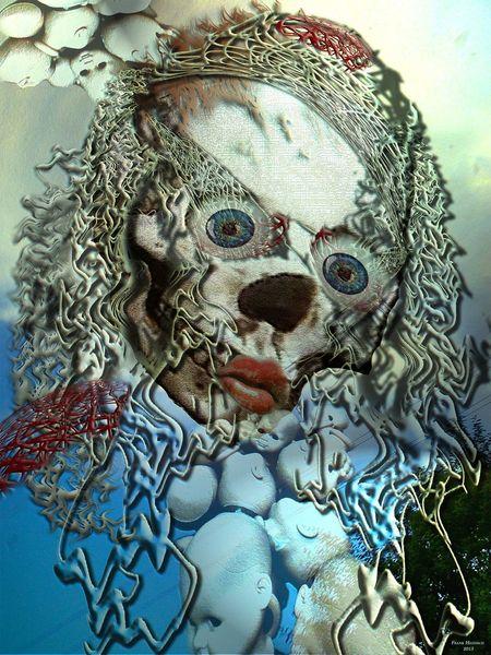 Surreal, Fantasie, Gesicht, Digitale kunst
