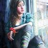 Portrait, Fenster, Mädchen, Armband
