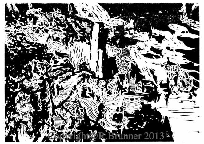 Linol, Druckgrafik, Linolschnitt, Hochdruck, Incisione su linoleum, Schwarz weiß