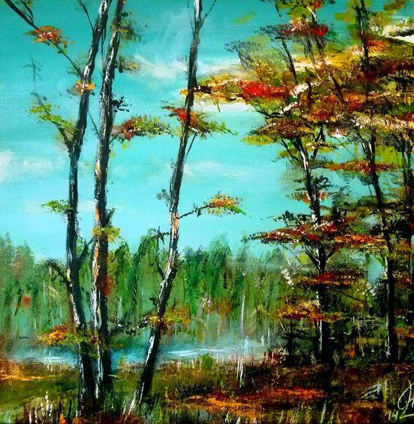 Herbst, Blätter, Holz, Baum, Farben, Landschaft