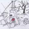 Teddybär, Zichnung, Maus, Hoffnung