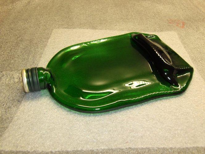 Fusingglas, Fusing, Flasche, Glasobjekt, Glas, Skulptur