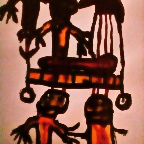 Augen, Herz, Patient, Malerei, Psychiatrie