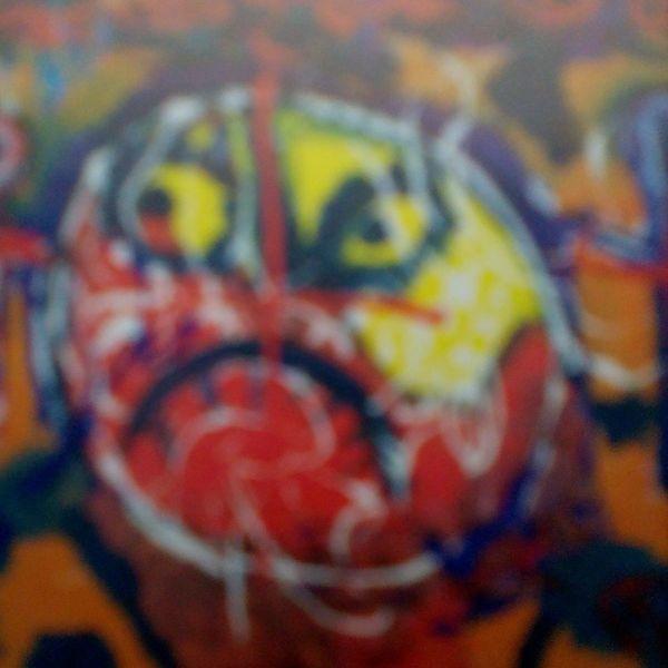Herz, Schmerz, Augen, Malerei, Outsider art