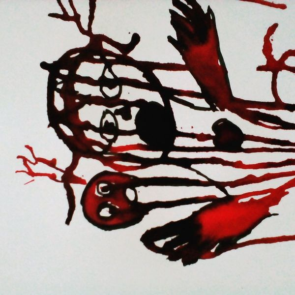 Herz, Blut, Traurig, Malerei, Tränen