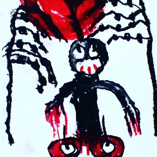 Mund, Augen, Hände, Malerei