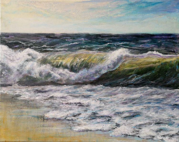 Meer, Malerei, Wasser, Landschaftsmalerei, Stimmung, Malen