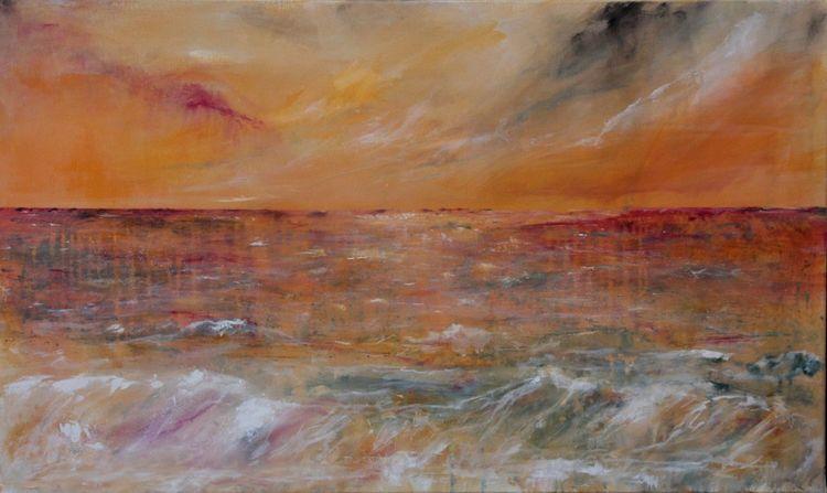 Meer, Wolken, Stimmung, Welle, Wasser, Himmel