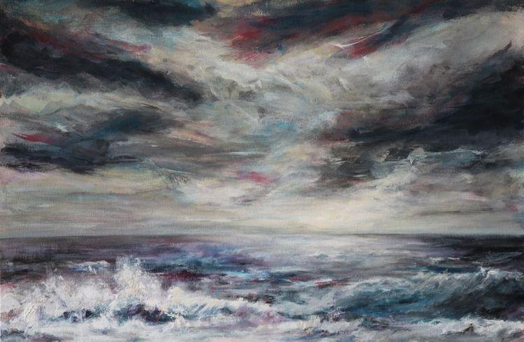 Wolken, Sturm, Wasser, Welle, Himmel, Brandung
