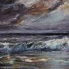 Meer, Wasser, Landschaftsmalerei, Wolken