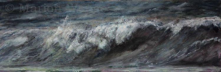 Wasser, Landschaft, Welle, Meer, Brandung, Malerei