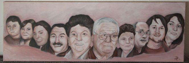 Portrait, Familie, Malerei