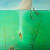 Tiere, Landschaft, Wasser, Ölmalerei