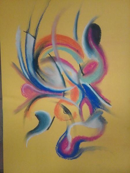 Pastellmalerei, Abstrakt, Bunt, Farben, Malerei