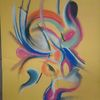 Pastellmalerei, Abstrakt, Bunt, Farben
