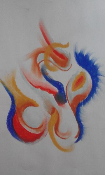 Abstrakt, Farben, Pastellmalerei, Malerei