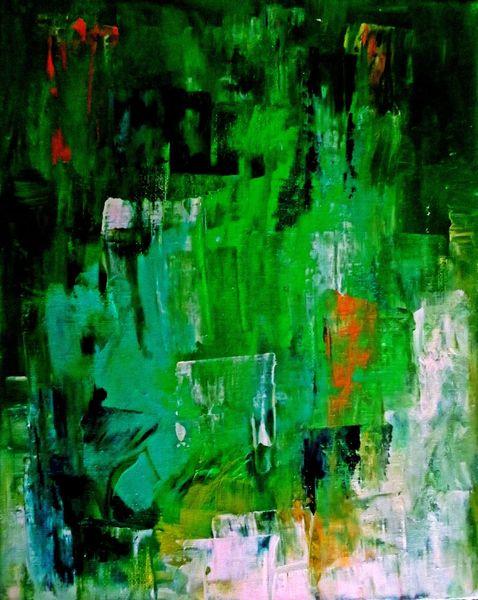 Monochrom, Abstrakt, Wald, Gelb, Licht, Grün