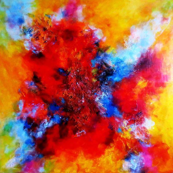 Abstrakt, Grün, Energie, Mix media, Welten, Experimentell