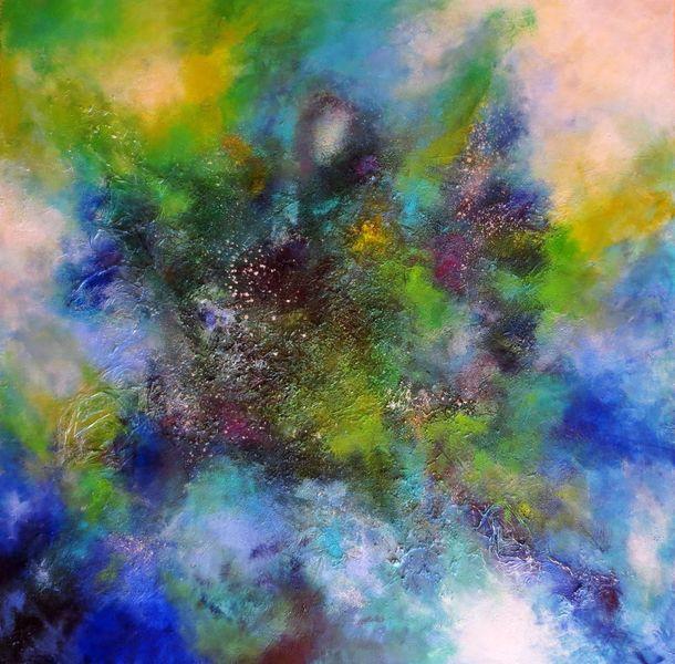 Relief, Insel, Abstrakt, Schicht, Himmel, Acrylmalerei