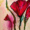 Tuschmalerei, Pigmente, Fiori, Acrylmalerei