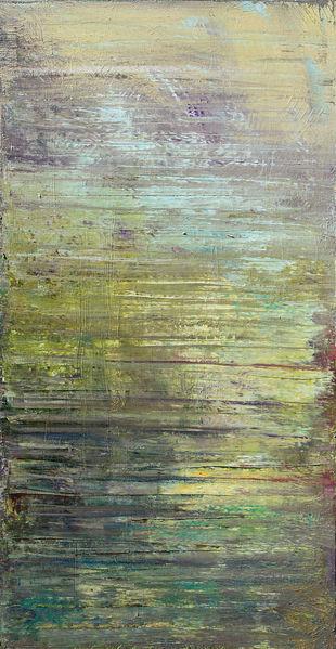 Landschaft, Abstrakt, Gelb, Abrasion, Grün, Malerei