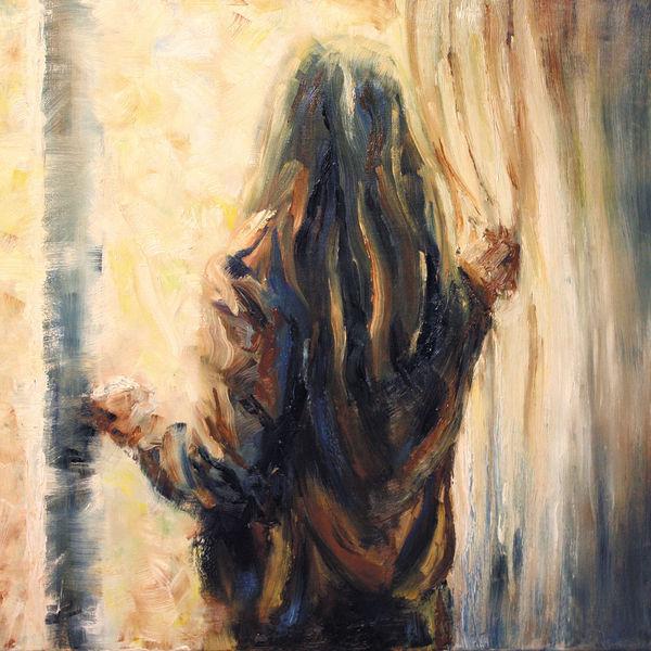 Fenster, Blick, Gemälde, Mädchen, Ölmalerei, Malerei