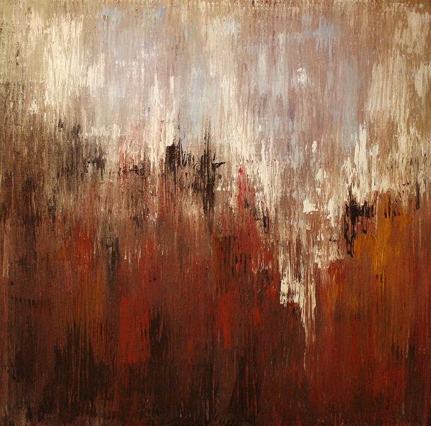Malerei, Gemälde, Spachteltechnik, Abstrakt, Tag, Rot