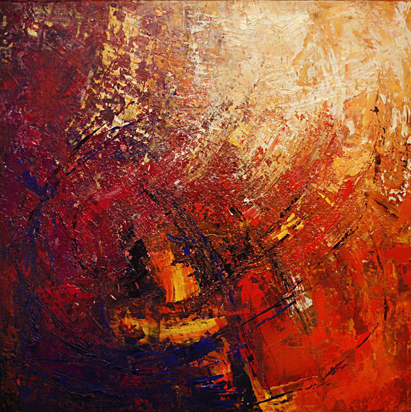 Expressionismus, Energie, Abstrakt, Naturgewalt, Rot, Impulsiv
